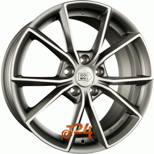 Диск 1000 Miglia MM035 7,5x17 5x112 et45 d57,1 Matt Anthracite Polished