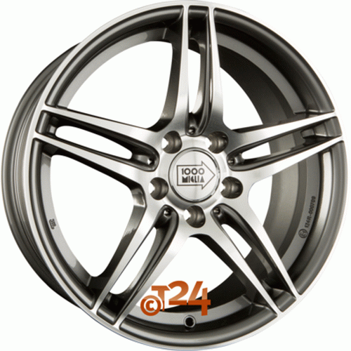 Диск 1000 Miglia MM037 7,5x17 5x112 et45 d66,6 Anthracite Polished