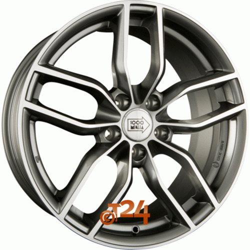 Диск 1000 Miglia MM039 7,5x17 5x112 et51 d57,1 Anthracite Polished