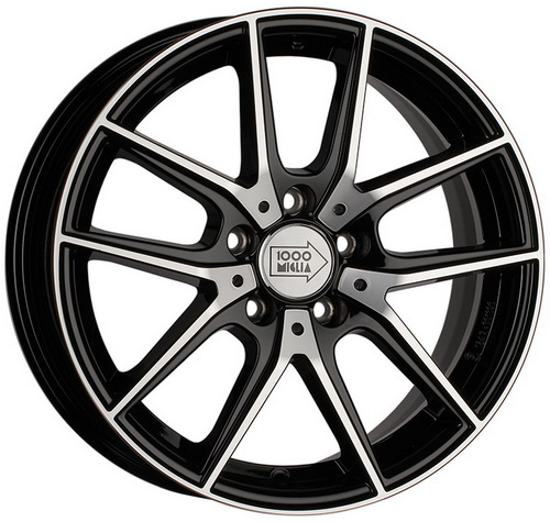 Диск 1000 Miglia MM041 6,5x16 5x114,3 et42 d67,1 Black Polished