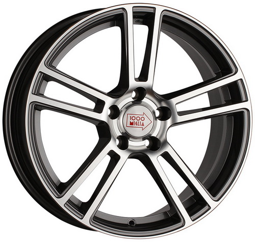 Диск 1000 Miglia MM1002 8,0x18 5x112 et45 d66,6 Dark Anthracite Polished