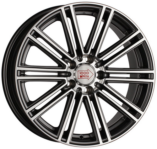 Диск 1000 Miglia MM1005 7,5x17 5x108 et40 d63,3 Dark Anthracite Polished