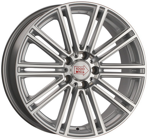 Диск 1000 Miglia MM1005 8,5x19 5x112 et45 d66,6 Matt Silver Polished