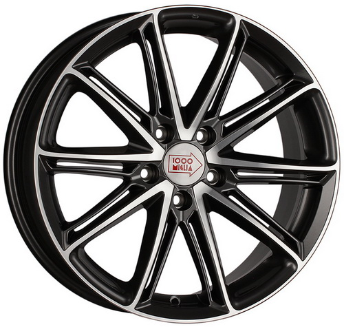 Диск 1000 Miglia MM1007 8,0x18 5x114,3 et40 d67,1 Dark Anthracite Polished