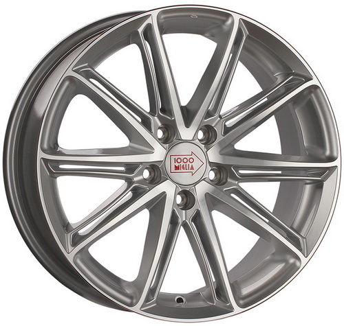 Диск 1000 Miglia MM1007 7,5x17 5x108 et40 d63,3 Silver Gloss Polished