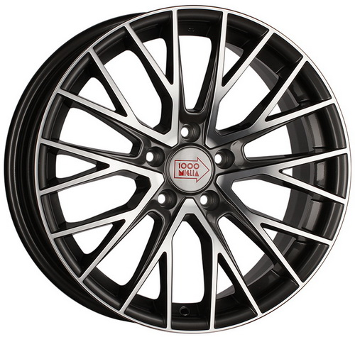 Диск 1000 Miglia MM1009 8,0x17 5x112 et35 d66,6 Dark Anthracite Polished