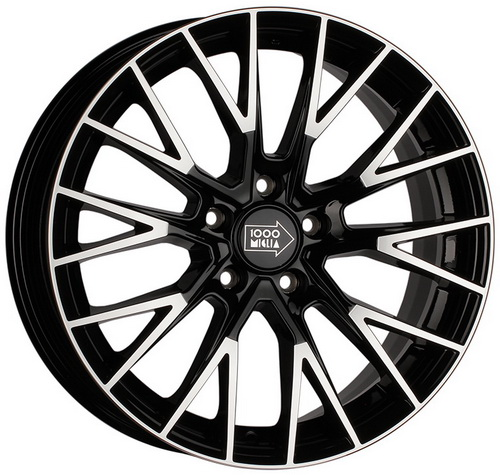 Диск 1000 Miglia MM1009 7,0x17 5x108 et50 d63,3 Gloss Black Polished