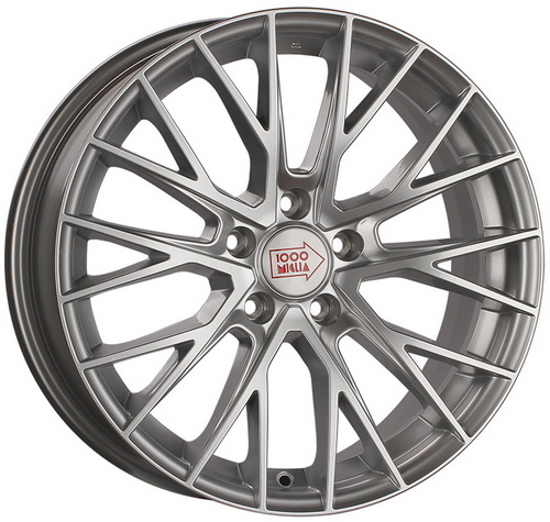 Диск 1000 Miglia MM1009 8,0x17 5x112 et35 d66,6 Silver High Gloss