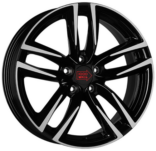 Диск 1000 Miglia MM1011 7,0x16 5x114,3 et42 d67,1 Dark Anthracite High Gloss
